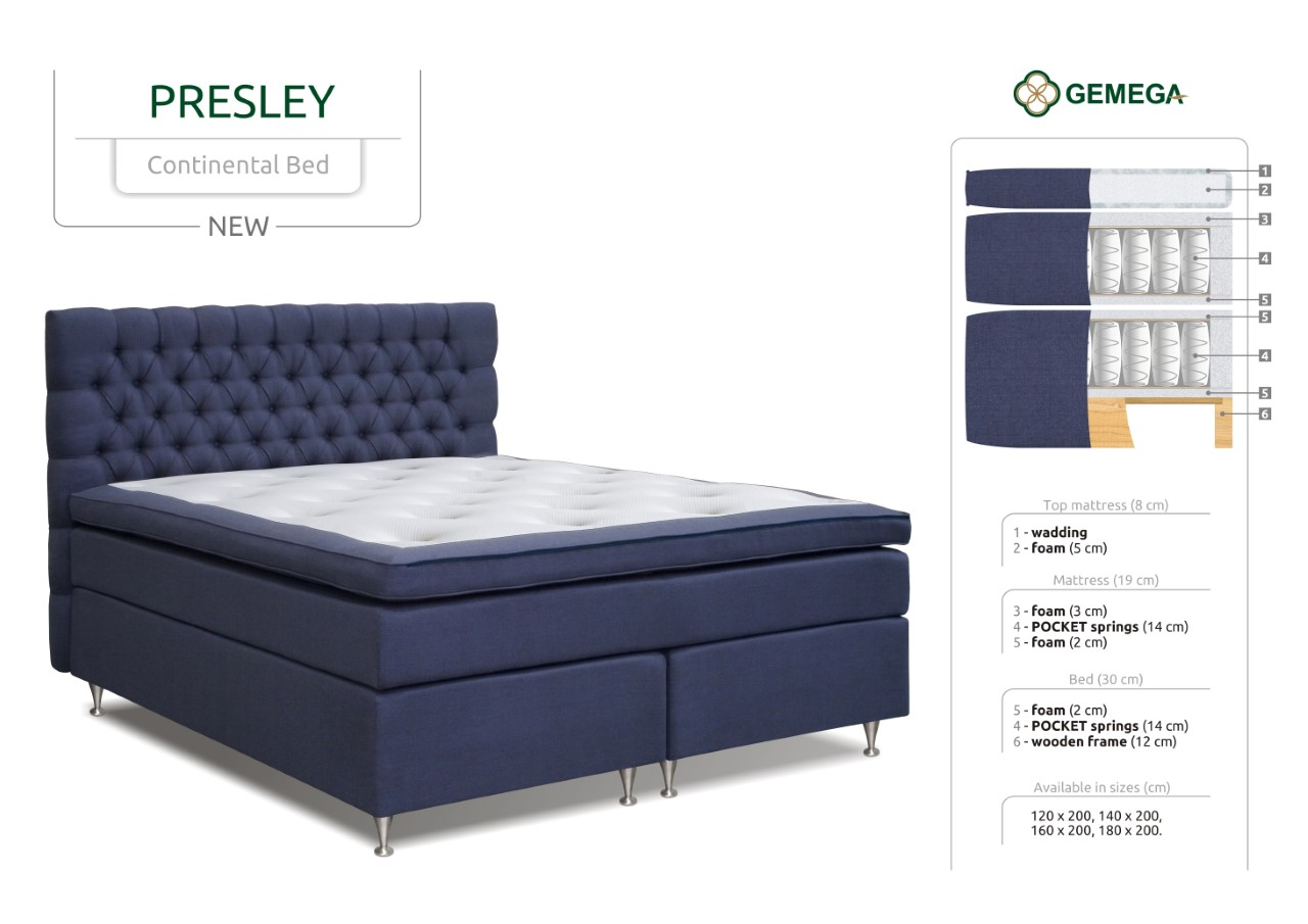 PRESLEY Continental Bed 2017 1